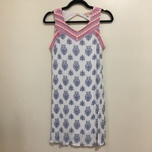 SKIES ARE BLUE embroidered open back dress O14